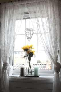 IKEA White Lacey Curtains