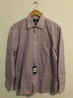 RESERVE - Pink check long sleeve - size 41/ medium