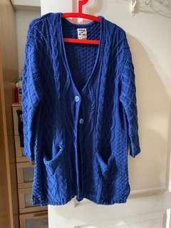 🚚 藍色毛線🧶外套