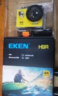 1🔥EKEN H9R Sports 170 Degree Wide Angle 4K Ultra HD Action Camera with 2.4G Remote WiFi Yellow Colour