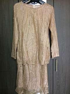 Baju tunang/nikah glitter lace
