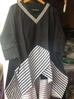 [REPRICE] Sailor blouse black