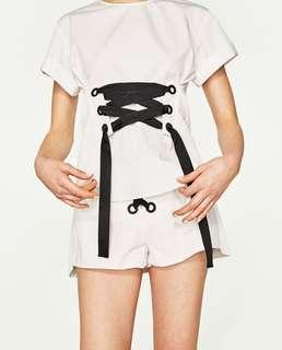 Zara corset white top
