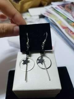 925 Silver star earrings 純銀星星耳環 no box