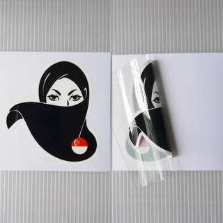 🚚 SG HIJAB WOMAN static cling decal