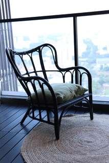 🚚 Rattan Chair Black