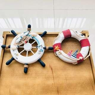 [For Rent] Nautical Steering Wheel & Lifebuoy Decoration