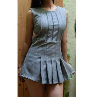 Grey Mini Dress with skorts