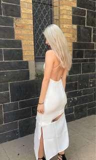 Maurie & Eve white cut out dress