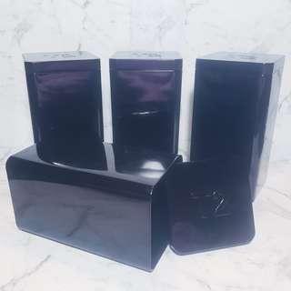 Set of 4 T2 Black Tins (Tall)