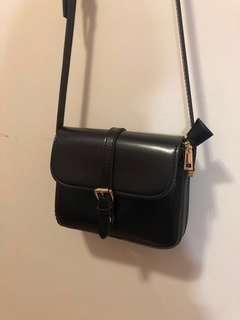 Black cross body bag / pouch