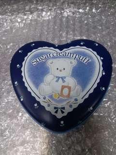sanrio sugar cream puff 心型鐵盒