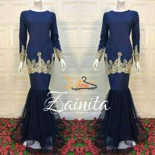 Baju kurung lace / organza _ baju raya / baju tunang / baju nikah