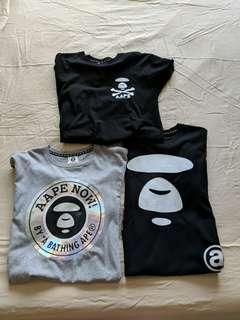 Pricr Firm : bundle AAPE T shirt Tee not bape streetwear
