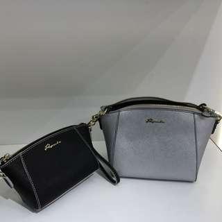 Paprika leather bag set