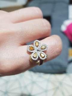 🚚 Canary Diamond yellow diamond ring
