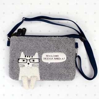 🚚 日本購入 超可愛 眼鏡貓貓側背包