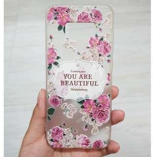Flower Case Samsung S8 motif timbul