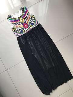 Bohemian colourful Maxi Dress