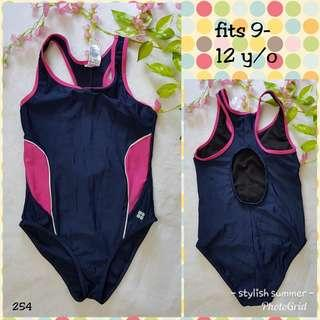 Girl's one piece swimsuit