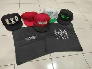 EXO unofficial hats snapback beg sling bags