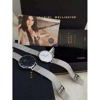 Daniel Wellington petite black sterling original