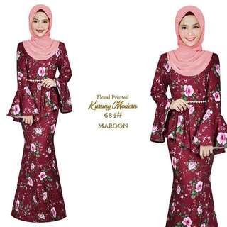 Kurung moden floral / baju raya