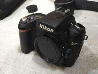 Nikon D90 body SC 24 k only.