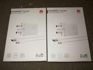 Original Huawei Supercharge Adapter & Type-C Cable