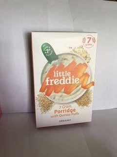 (2 Packs package)Little Freddie Organic 7 Grain Porridge with Quinoa Puffs