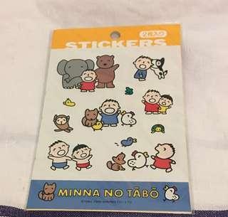 大口仔 Minna No Tabo貼紙(絶版)