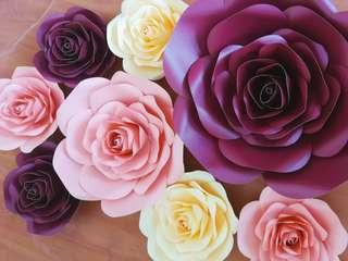 Paper Flowers wall and backdrop decoration