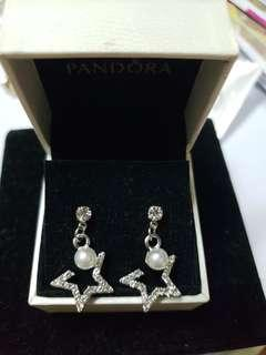 925 Silver diamond star earrings 純銀閃石星星耳環 no box