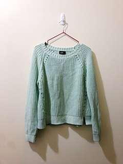Mint green knit sweater