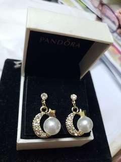925 Silver diamond moon earrings 純銀閃石月亮耳環 no box