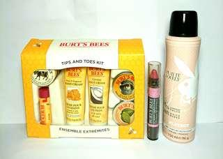 Tips and Toes Kit & Lip crayon 423 & Playboy play it Lovely