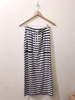 Striped blue beach skirt