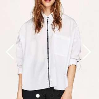 Zara Shirt with Striped Trims