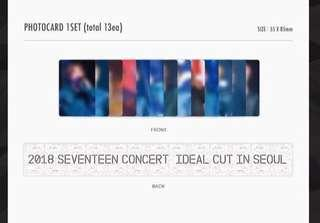 Sharing photocards 2018 Seventeen Ideal Cut in Seoul