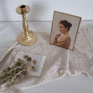 Crochet Lace Table Runner Dessert Table Decor Candle Stand