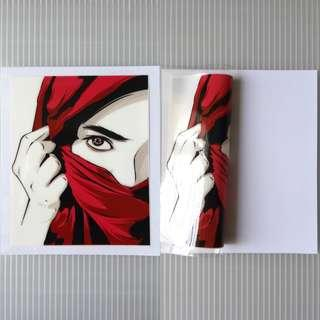 🚚 HIJAB WOMAN static cling decal