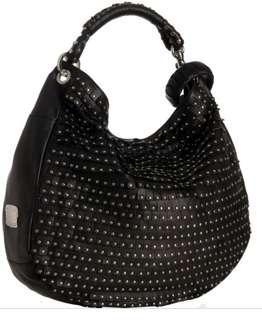 🚚 JIMMY CHOO SKY studded black leather bag