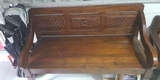 🚚 Teak wood long chair at $350