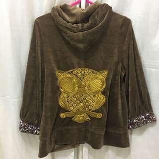 Brown Jacket with Owl Design