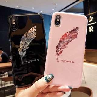 🚚 iphone feather phonecase