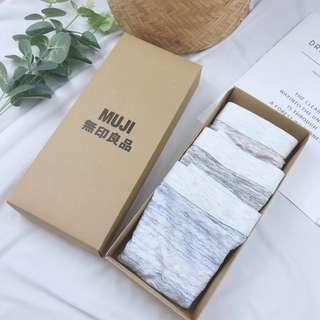 無印良品(男性)蘭精低碳優棉一盒三件式隨機出
