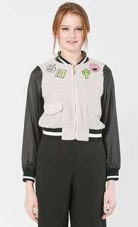 Schmiley Mo Grey Bomber Jacket