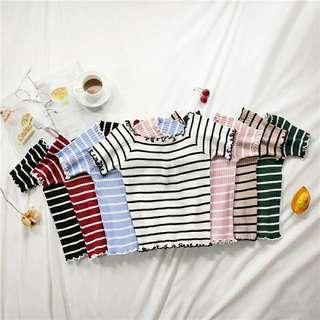 Stripes Short Sleeves