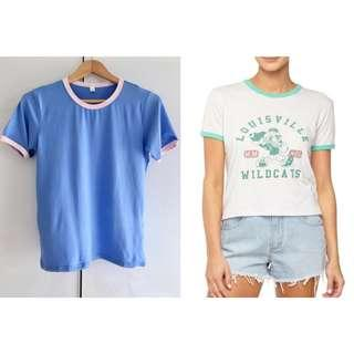 $10 SALE: 1+1 = BN Blue Pink Ringer Top & CO Cotton TBar LCN Mickey Louisville Silver Marle Mint Green Ringer Tee Top (do you see this marked sold? no. then OBVIOUSLY ITS AVAILABLE)