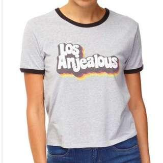 $10 SALE: 1+1 = BNWT CO Cotton On TBar Winnie Los Anjealous Ringer Tee & A random camisole (do you see this marked sold? no. then OBVIOUSLY ITS AVAILABLE)